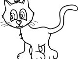 Answer Cat Coloring Page