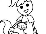 Ask Cat Coloring Page