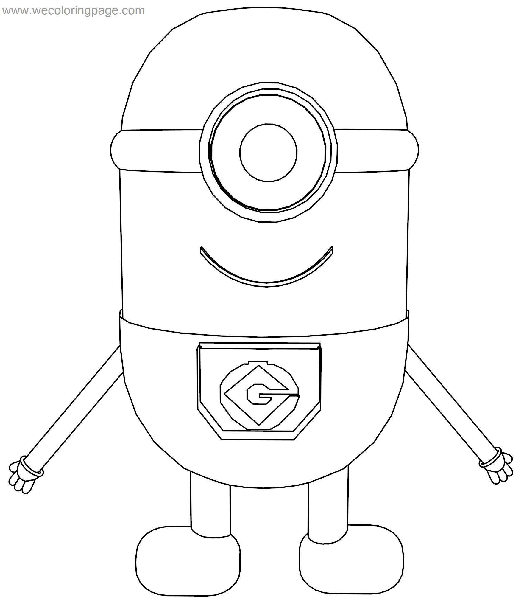 Small Baby Minion Coloring Page