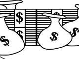 Bag Money Bills Coloring Page