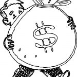 Bag Of Money Coloring Page