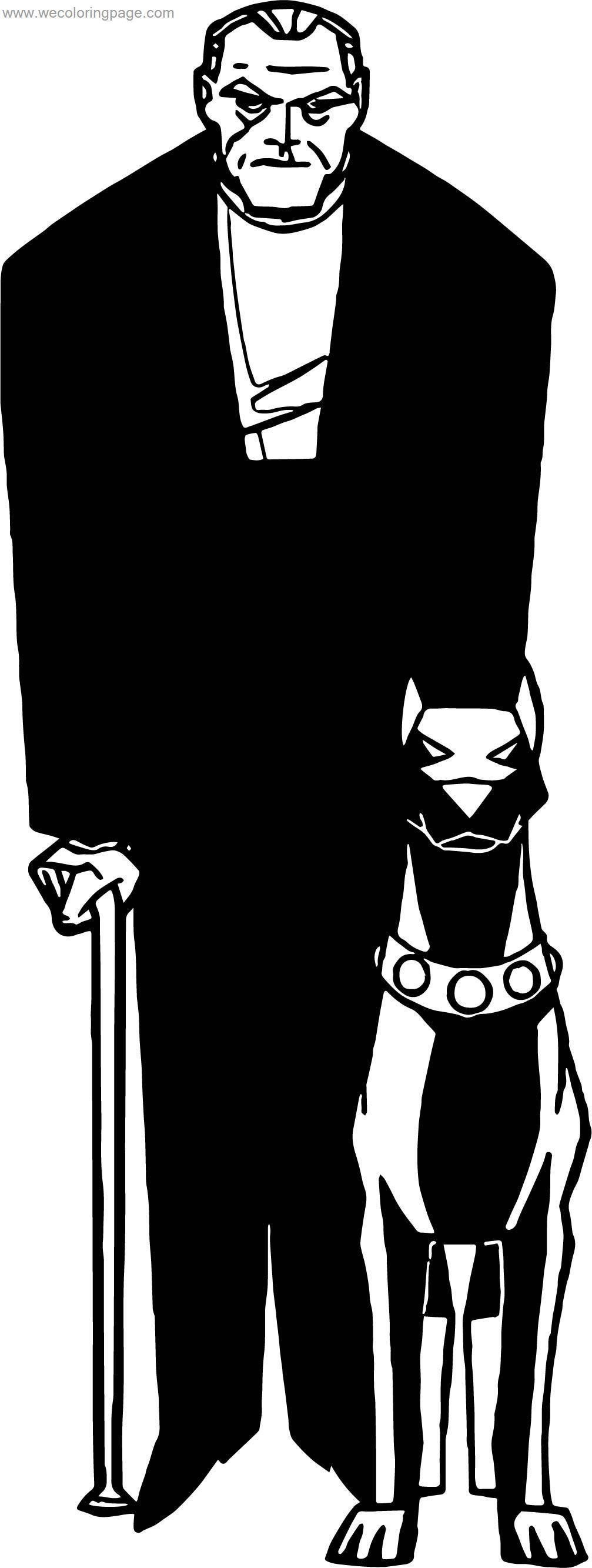 Batman Assistant And Dog Coloring Page