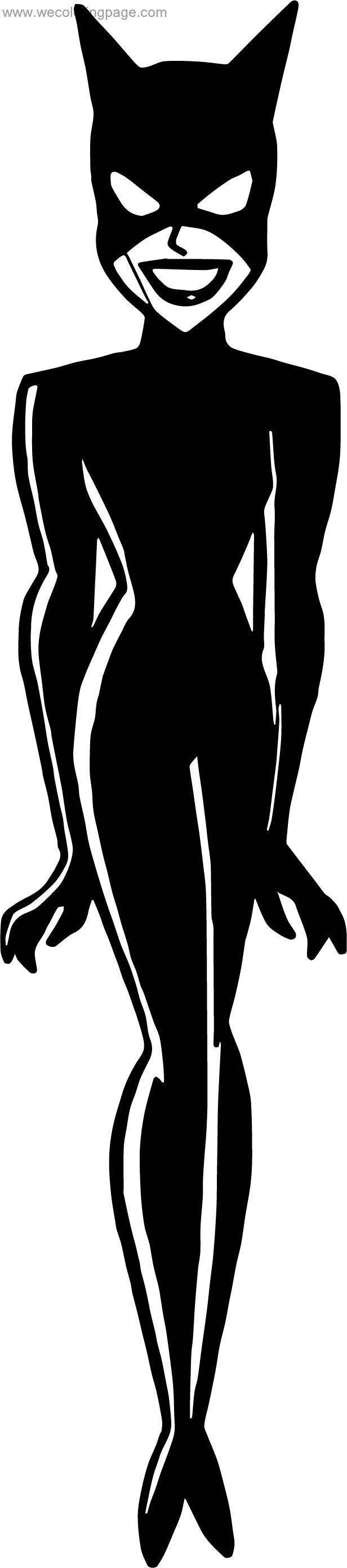 Batman Cat Woman Coloring Page