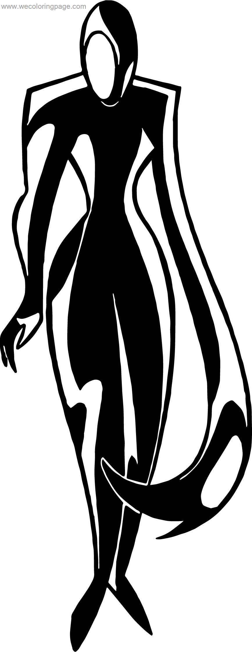 Batman Enemy Black Coloring Page