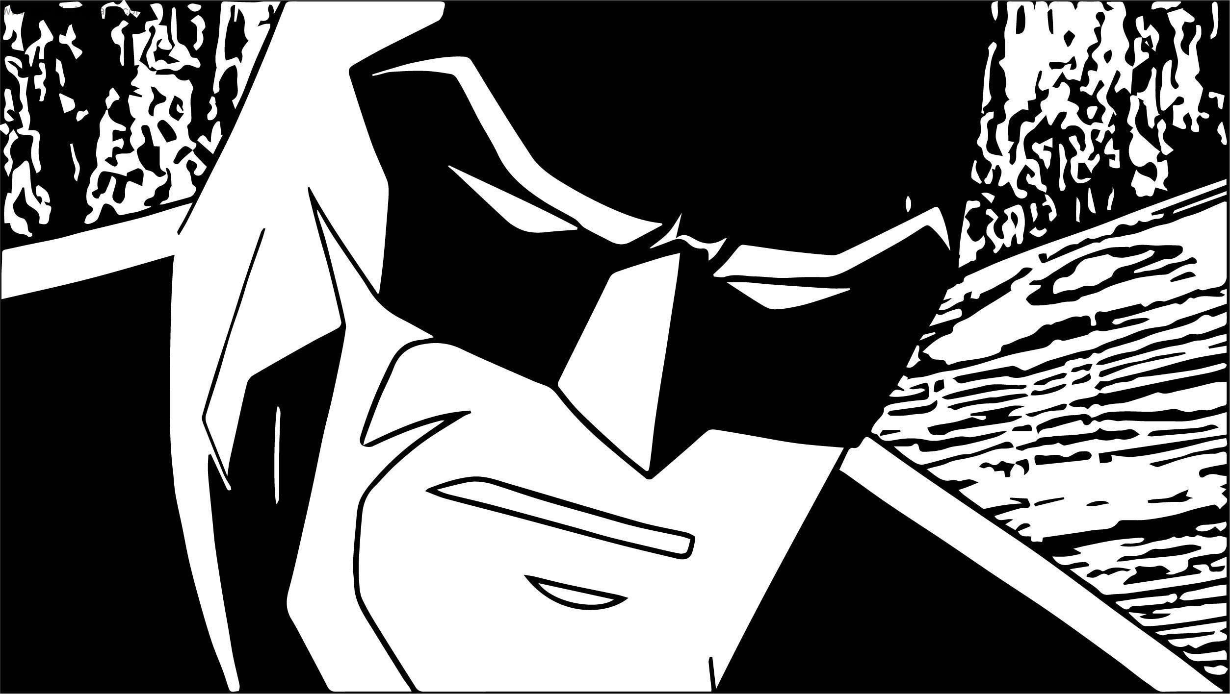 Batman Scene Coloring Page