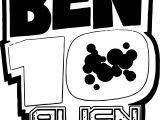 Benten Alien Force Text Logo Coloring Page