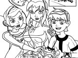Benten Gwen Game Time Coloring Page