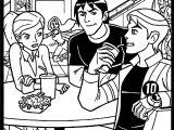 Benten Gwen Kevin Cafe Coloring Page