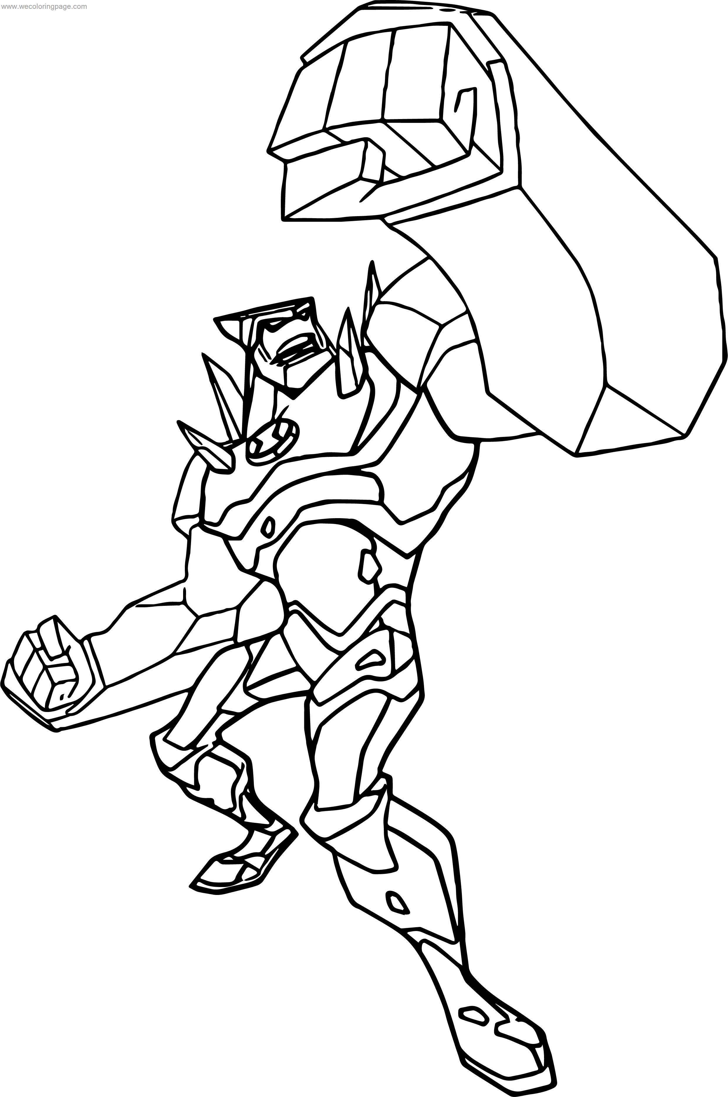 Benten Punch Creature Coloring Page
