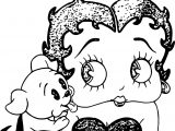 Betty Boop Dog Love Coloring Page