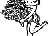 Betty Boop Rose Coloring Page