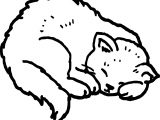 Between Cat Coloring Page