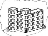 Biggest School Building Coloring Page