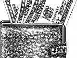 Black Wallet Coloring Page