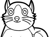 Boy Cat Coloring Page