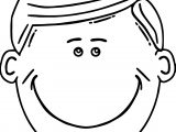 Boy Smile Free Printable Face Coloring Page