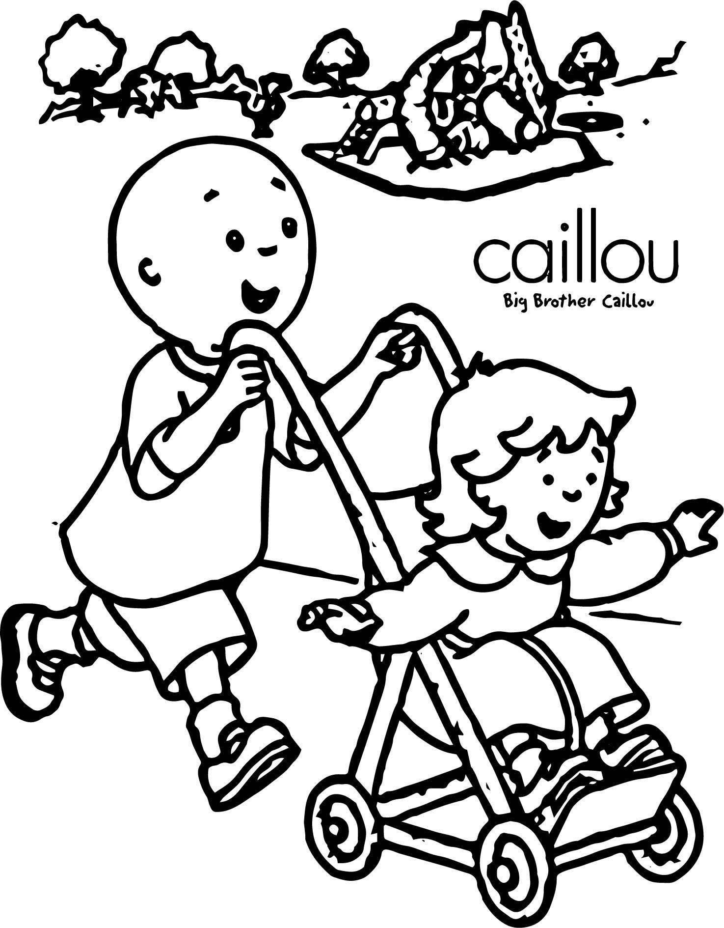 Caillou Big Brother Coloring Page