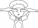 Caillou Dough Coloring Page