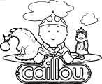 Caillou Dragon Lord Coloring Page