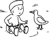 Caillou Duck Coloring Page