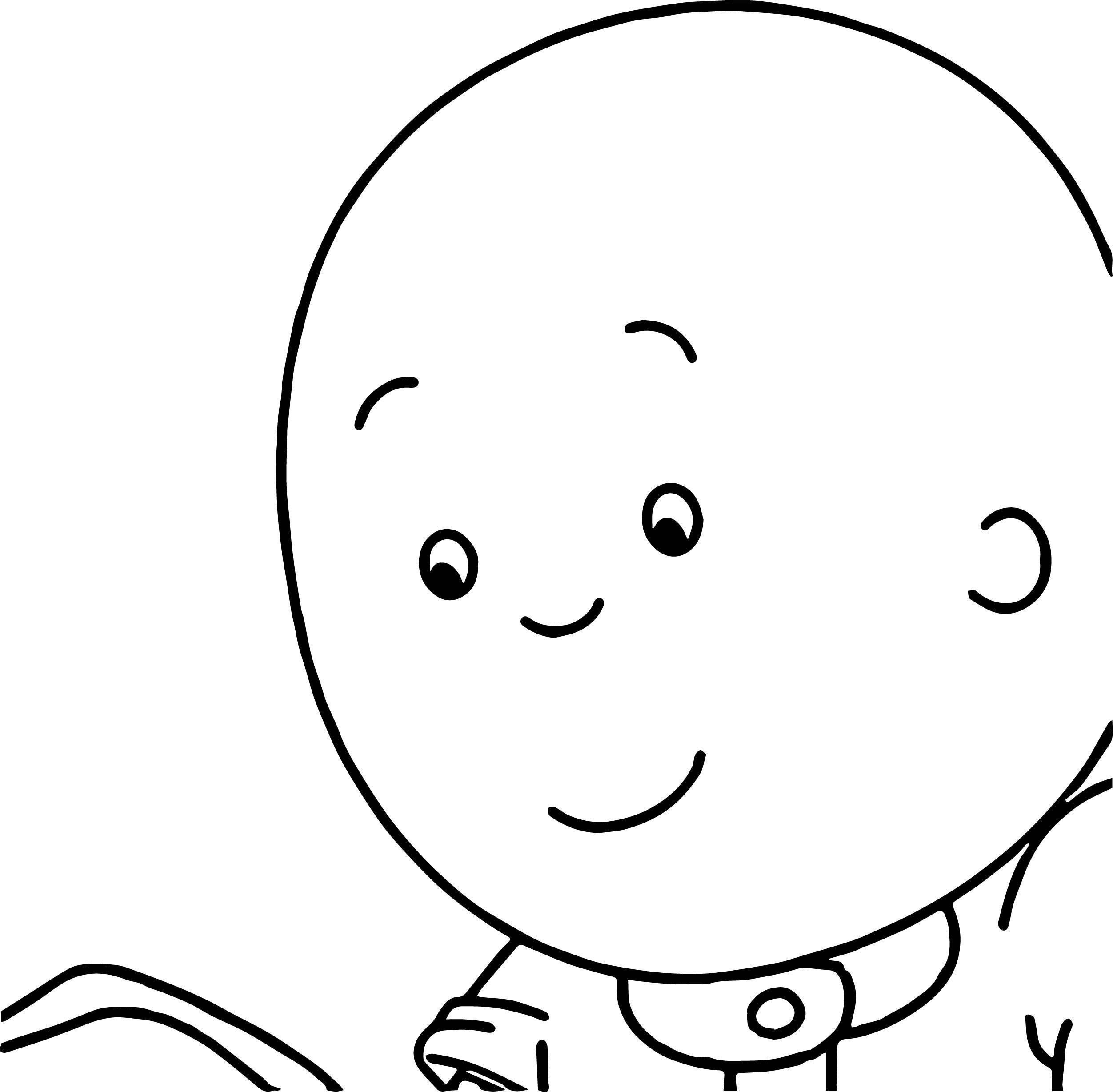 Caillou Face Look Coloring Page