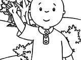Caillou Forest Coloring Page