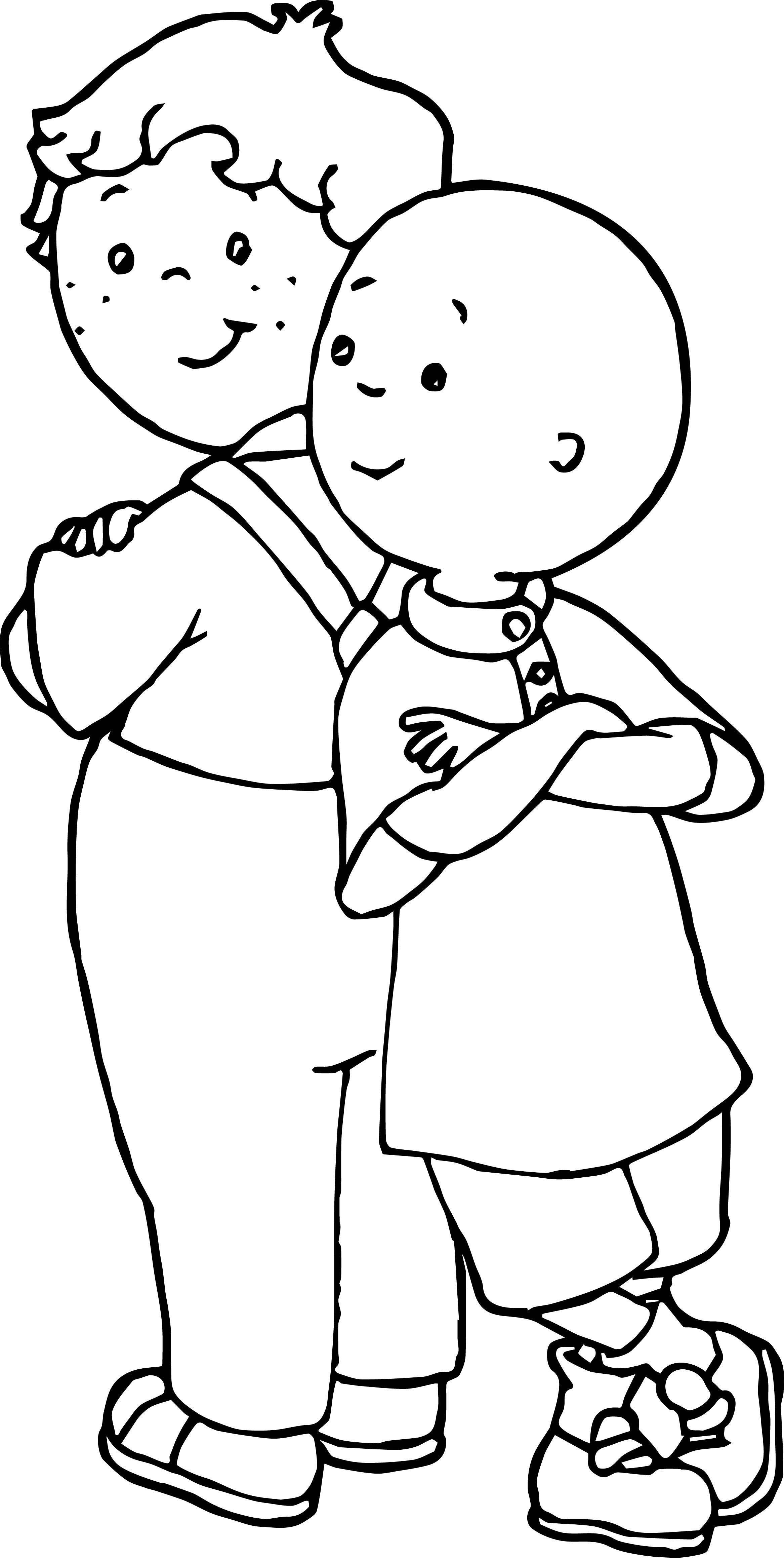 Caillou Friends Coloring Page