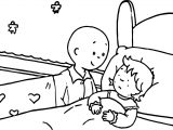 Caillou Ill Sister Coloring Page