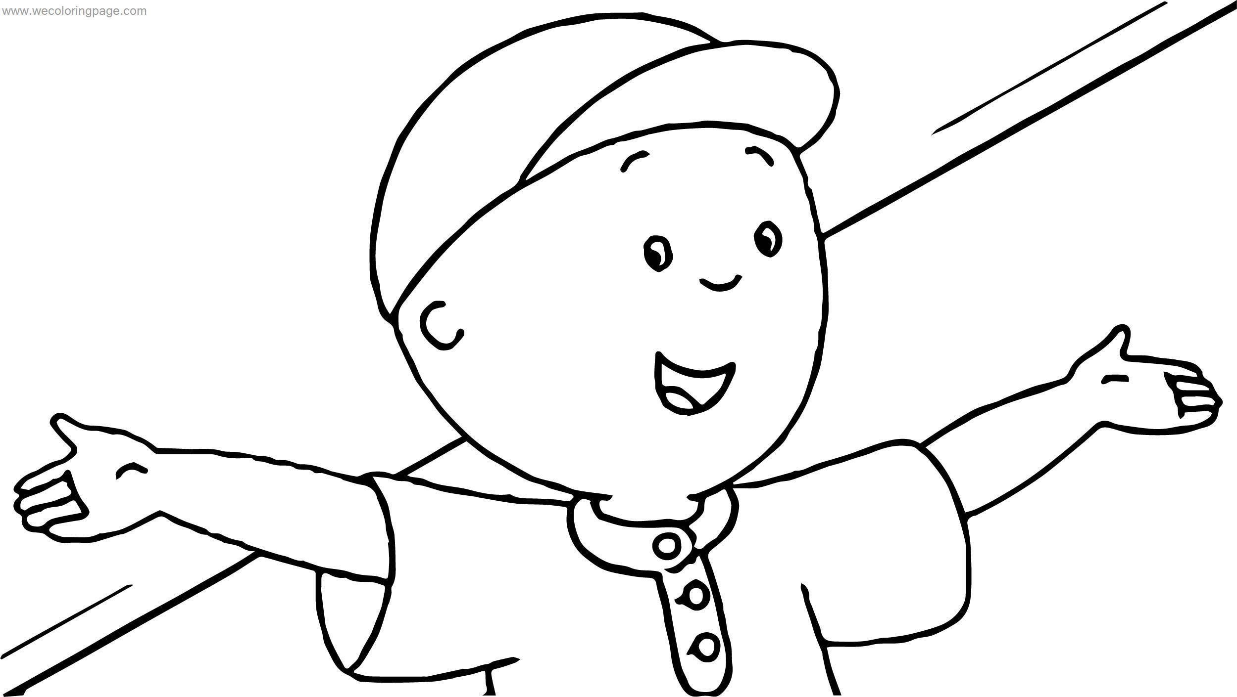 Caillou Me Coloring Page