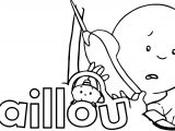 Caillou Phone Coloring Page