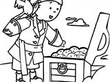 Caillou Pirate Coloring Page