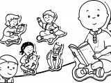 Caillou Set Image Coloring Page