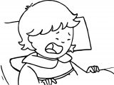 Caillou Sister Cry Coloring Page