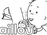 Caillou Thinking Coloring Page