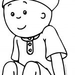 Caillou Thinking Now Coloring Page