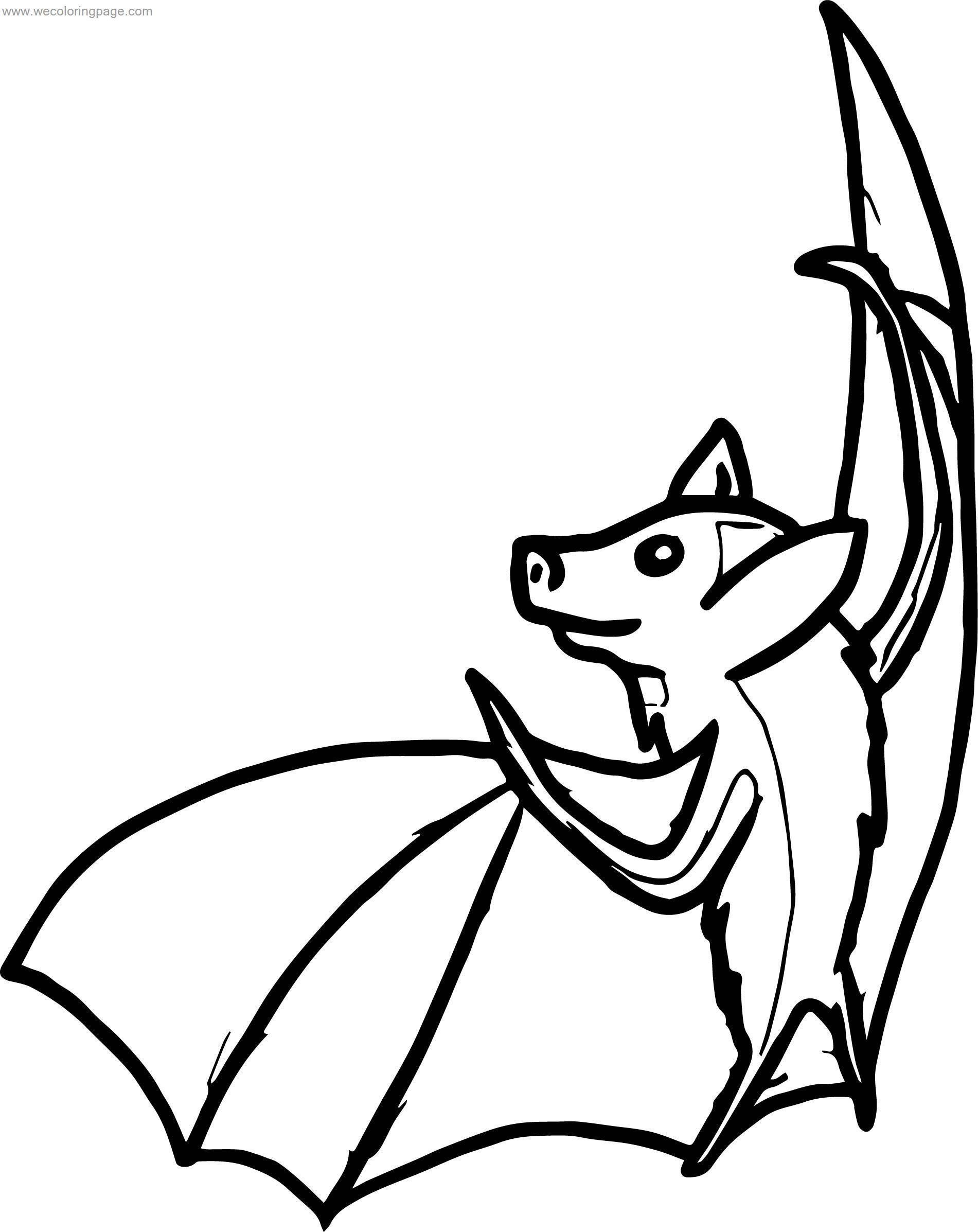 Can Bat Coloring Page
