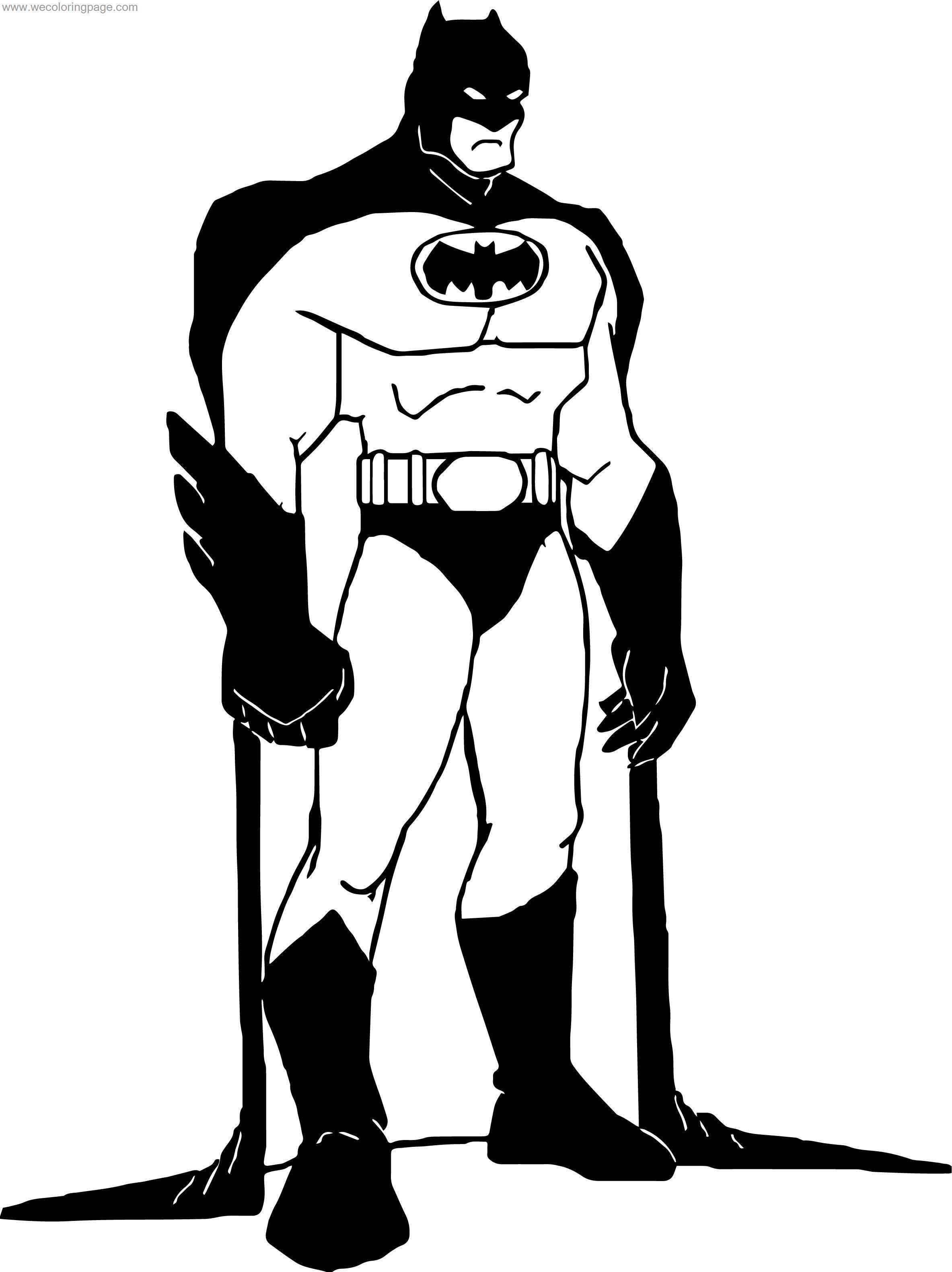 Can Batman Coloring Page
