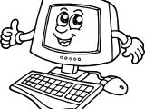 Cartoon Computer Engineer Coloring Page