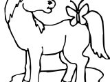 Cartoon Horse Butterfly Coloring Page