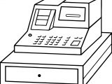 Cash Register Money Coloring Page