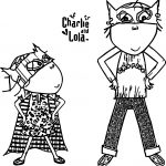 Charlie And Lola Batman Coloring Page