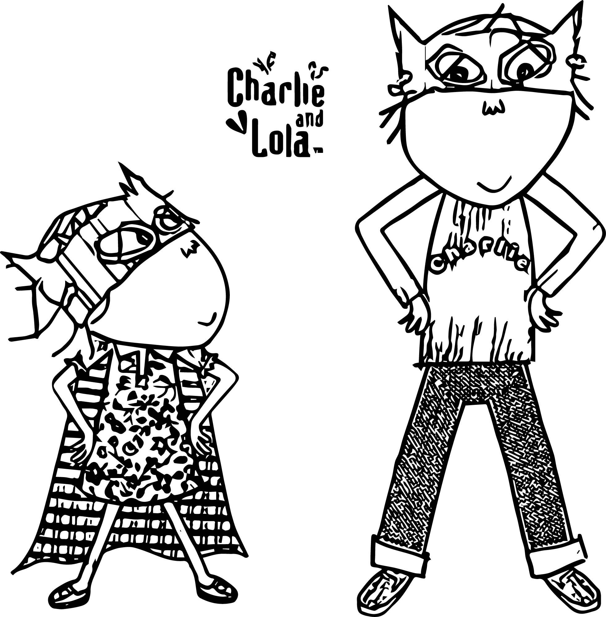 Charlie And Lola Batman Coloring Page