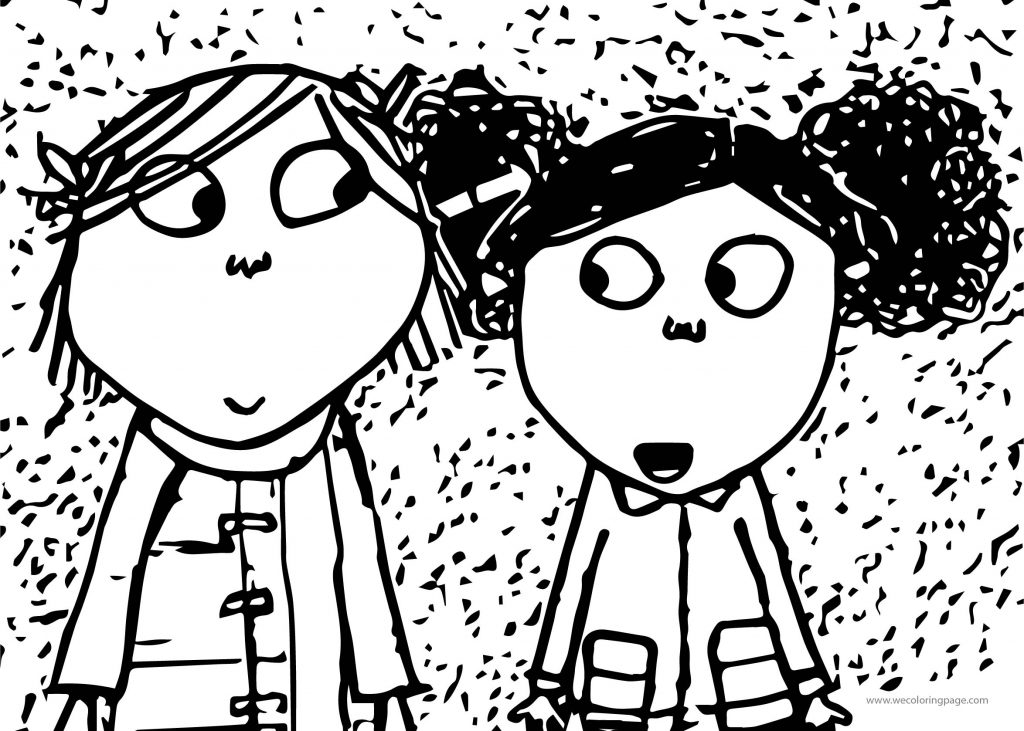 coloring pages to print charlie and lola | Charlie And Lola Girl Friend Coloring Page ...