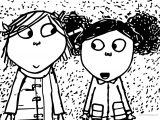 Charlie And Lola Girl Friend Coloring Page