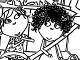 Charlie And Lola In Car Coloring Page