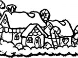 Chrismas Gingerbread House Coloring Page