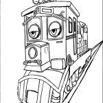 Chuggington Dunbar Sad A4 Page Printable Coloring Page