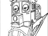 Chuggington Dunbar Sad A4 Page Printable Coloring Page