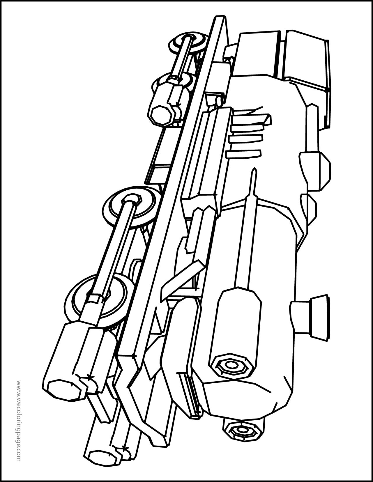 Chuggington Landslide Coloring Page