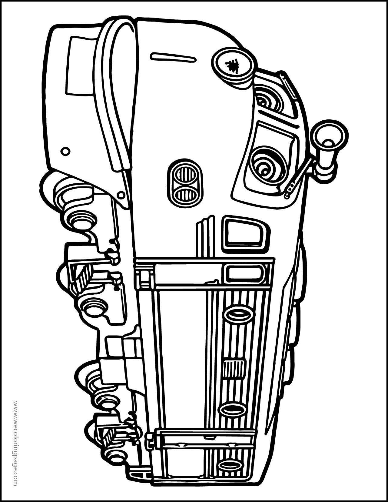 Chuggington Side Coloring Page